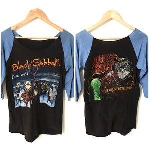 Vintage 1980's Black Sabbath & Quiet Riot Shirt